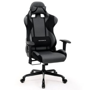 Songmics Chaise gamer Fauteuil de bureau racing