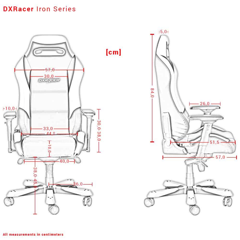 DXRacer Iron Dimensions