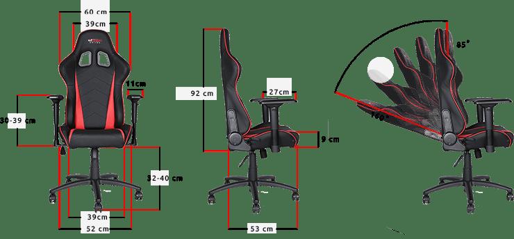 GT Omega Racing chaise de bureau