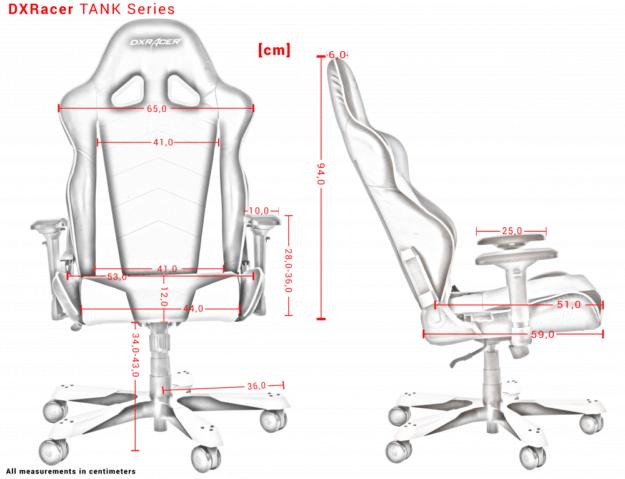 DXRacer Tank Dimension