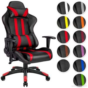 TecTake chaise gamer couleurs