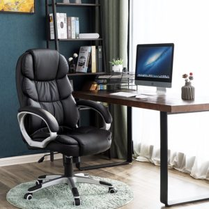 chaise de bureau Songmics noir similicuir