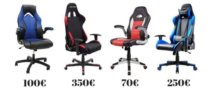 Prix chaise gamer